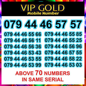 New Easy VIP Gold Mobile Phone Number SIM Card Platinum Mobile Number Diamond EE