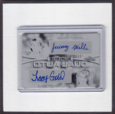 Leaf METAL Pop Century PRINTING PLATE DUAL AUTO JEREMY MILLER TRACEY GOLD 1/1