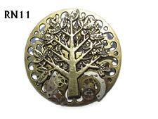 steampunk badge brooch tree of life clockwork watch parts cogs gearwheels #RN11