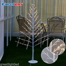Pre-Lit 4FT 96L LED White Twig Branches Tree Lights Lamp Christmas Decoration US