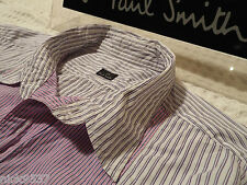 "PAUL SMITH Mens Shirt 🌍 Size L (CHEST 42"") 🌎 RRP £95+🌏 CONTRASTING STRIPES"
