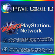 Console ID + PSID IDPS Unban 100% private with warranty