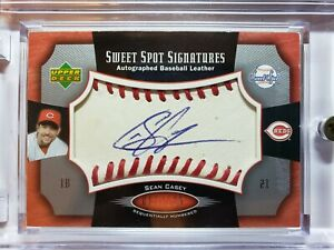 Sean Casey - 2005 Sweet Spot Signatures - Red stitch/Blue Ink - # 085/135