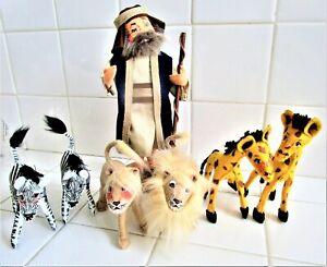 ANNALEE FANTASTIC NOAH'S ARK 3  PAIR OF ANIMALS  LIONS,SEBRA'S & GIRAFFBRAND NEW