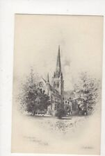 Chichester Cathedral From NE George Fossick Plain Back Art Card 658a