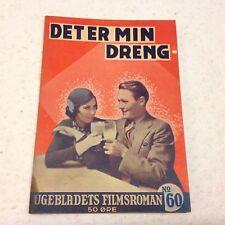 "That's My Boy Cromwell Jordan Marsh 1934 Danish Novel ""Ugebladets Filmsroman"""