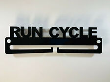 Medal Display Hanger Holder RUN CYCLE Black Acrylic & FREE POST