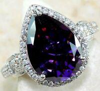 AAA Grade 6CT Amethyst & Topaz 925 Solid Sterling Silver Ring Jewelry Sz 6, OC6