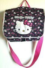 Hello Kitty Messenger Bag Black Pink Laptop Book Bag