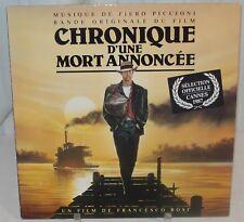 CHRONIQUE D'UNE MORT ANNONCÉE (Piero Piccioni) rare original stereo lp (1987)