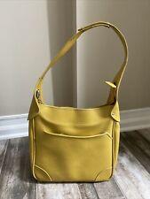 Vtg. Yellow Samsonite Saturn Overnight/Carry On/Travel Bag Adjustable Snap Strap