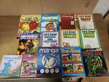 Lot 25 Kids How to Draw Art Books Education Dino Car Animal Drawing Beginner KC2
