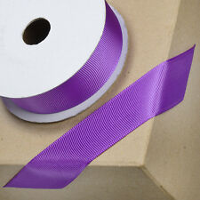 Grosgrain Quality Craft Tying Ribbon Roll Reel Cake Decoration Dress 10/16/25mm Purple 25mm X 10m