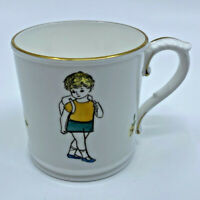 Vintage Royal Worcester Thursday's Child Has Far to Go - Mug Cup China Mottoware