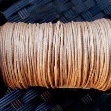 5 mètres de Fil Coton Ciré  CAMEL (MARRON CLAIR) -  Epaisseur 1 mm