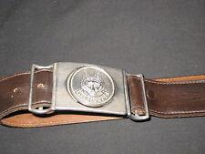 Wolf Cubs Leader Leather Belt, waist 36  Canada     eb05