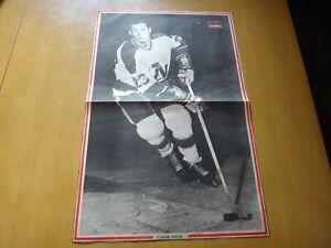 minnesota north stars vintage Black & white poster claude larose # 23 hockey nhl