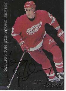 1999-00 Signature Series Jiri Fischer SP Rookie Autograph Detroit Red Wings