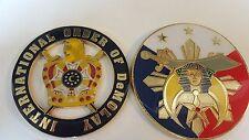 "International Order of DeMolay Car Emblem Masonic Gold/Black 3"" & Shriner 3.2"".."