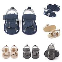 KQ_ Summer Infant Baby Stripe Anti-skid Sandals Soft Prewalker Flat Shoes Reliab