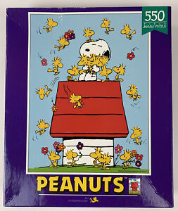 1998 Ceaco Peanuts Puzzle Snoopy Woodstock 550 Piece New Old Stock Sealed
