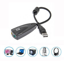 USB 2.0 Extern Audio Adapter 7.1 Soundkarte Dynamic 3D Surround Sound Card