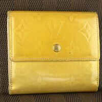 Auth LOUIS VUITTON PORTE MONNAIE BILLETS CARTE CREDIT Bifold Wallet Purse Vernis