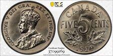 1929 CANADA 5 CENTS Specimen PCGS SP65. Extremely Rare Specimen 5 Cent