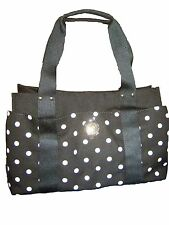 Tommy Hilfiger Women's Med Iconic Black White Dot Satchel Shoulder Bag Large