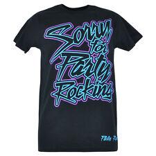 Sorry For Party Rocking Rock Juventud Pop Culture Lmfao Negro Neón Camiseta