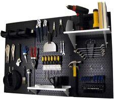 Pegboard Tool Storage Kit Wall Control 32 in. x 48 in. Accessories Metal Black