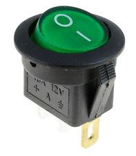 10 x Verde ON/OFF LED luci tondo Rocker interruttore AUTO CRUSCOTTO BARCA 12V