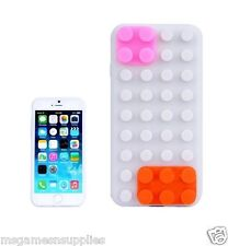 White Lego Building Blocks Style Silicone Gel 3D Case for iPhone 6+ 6PLUS 5.5