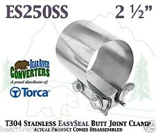 """2 1/2"""" 2.5"""" Torca EasySeal Stainless Butt Joint Band Exhaust Clamp ES250SS"""