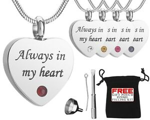 Cremation Ashes Urn Necklace Ashes Heart Pendent Jewellery For Memorial Locket
