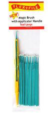 Flex-i-file magic Cepillos con mango Aplicador Verde Azulado 18 Cepillos grandes
