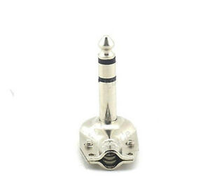 "5pcs 6.35 mm 1/4"" Mono Right Angle Metal Plug Jack New Good Quality"