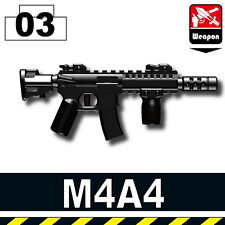 M4A4 (W133) Assault Rifle fits compatible with toy brick minifigures Army M4