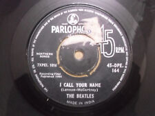 THE BEATLES 45 DPE 164 PARLOPHONE LONG TALL SALLY rare SINGLE INDIA G+