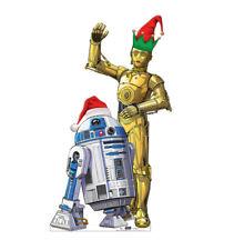 R2-D2 C-3PO CHRISTMAS OUTDOOR LIFESIZE CARDBOARD STANDUP STANDEE CUTOUT DISPLAY