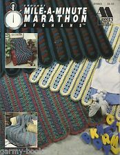 Mile a Minute Marathon Afghans Annie's Attic Crochet Instruction Patterns NEW