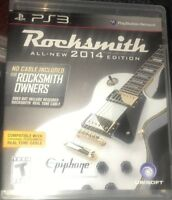 Rocksmith 2014 Edition Ps3 Playstation 3 Game Learn Real Guitar!