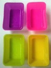 Rectangle Mini 4 pc Silicone Molds for Cupcakes Muffins Fondant Chocolate Crafts