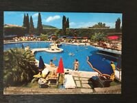 Old Vintage Italy Postcard with Stamps 1988, Hotel Mioni Pezzato Terme Italia