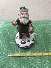 1990 Duncan Royale History of Santa Claus Figurine Wind Up Nast & Music Box