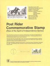 #7309 8c Post Rider Stamp #1478 Souvenir Page