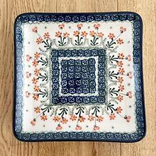 Bunzlauer Keramik Platte Teller eckig 21cm (sehr guter Zustand)