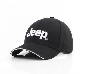 Baseball Cap Mütze JEEP Auto Logo Mütze Hut Einstellbar kappe Unisex Schwarz