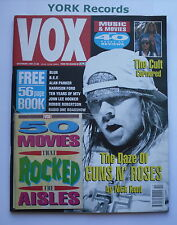VOX MAGAZINE - Issue 13 October 1991 - Guns N' Roses / Blur / B.E.F. / The Cult