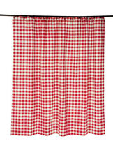 Country Primitive Buffalo Red Check Shower Curtain